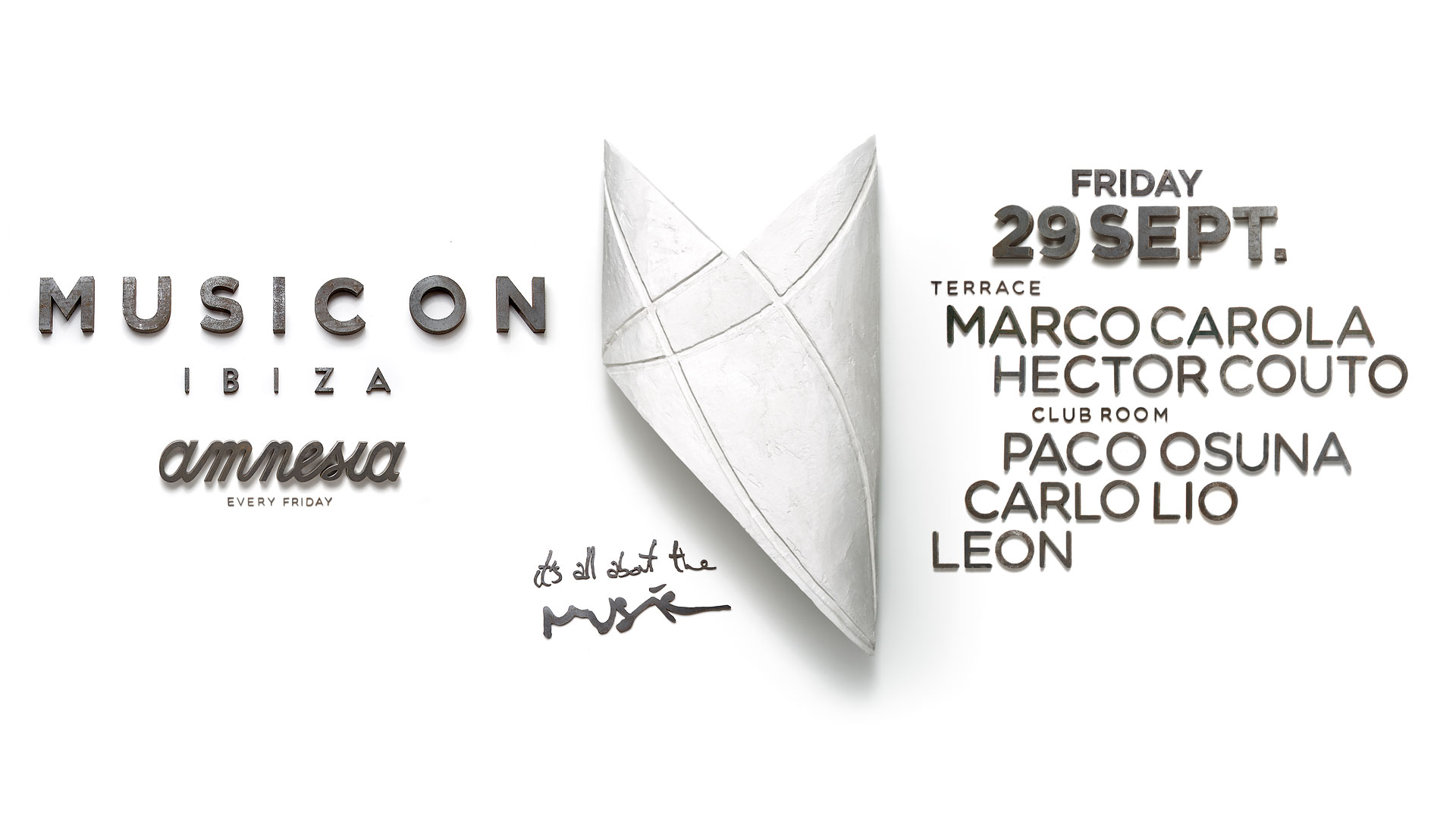 Music On this Friday: Marco Carola, Paco Osuna, Carlo Lio, Hector Couto and Leon