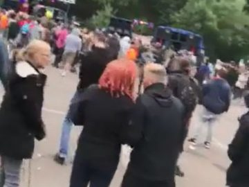 Police Crew With a Helicopter Struggled To Shut Down A Rave