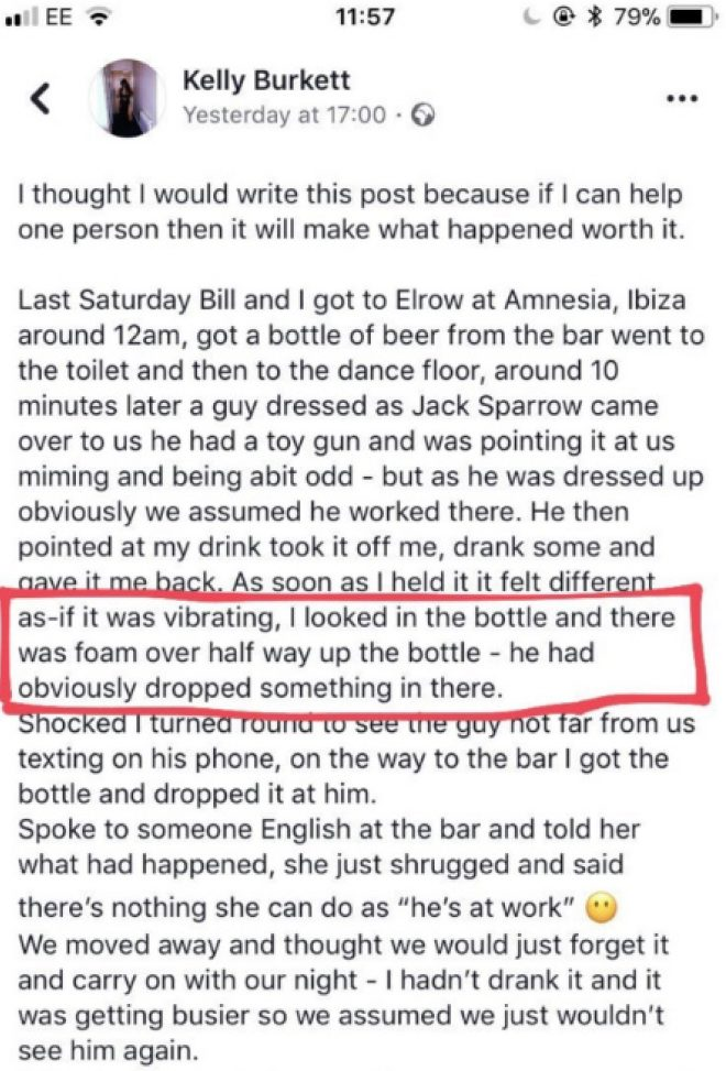 Woman Shared Detailed Story On How Her Drink Was 'Spiked' at elrow in Amnesia Ibiza