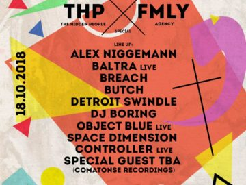 DJ Boring, Space Dimension Controller, Object Blue, Baltra, Detroit Swindle, Butch and more announced for The Hidden People x FMLY