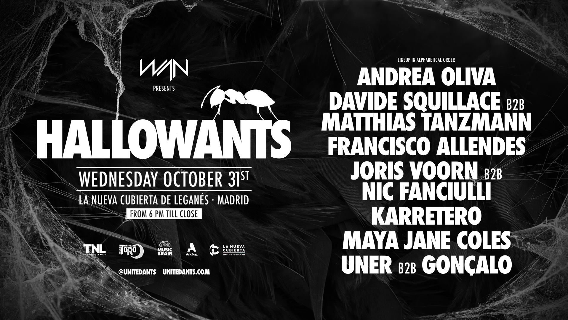 ANTS ANNOUNCE SPECIAL 'HALLOWANTS' PARTY