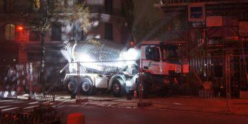 Artist Turns A Cement Mixer Into A Giant Disco Ball